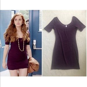 Xhilaration Purple BodyCon Dress ASO Lydia Martin